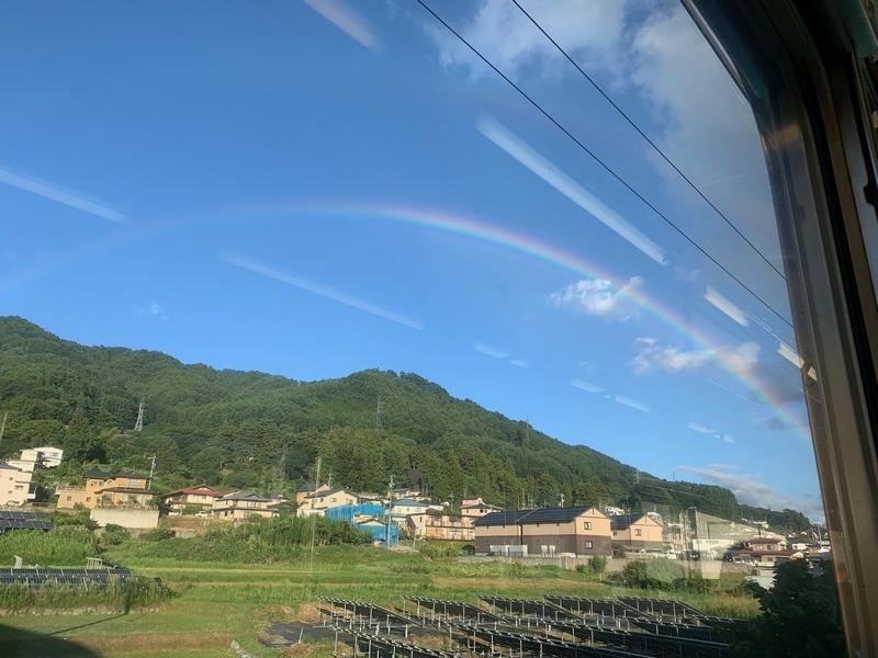 茅野付近の虹