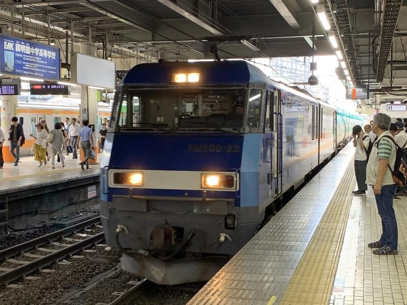 八王子駅 貨物列車