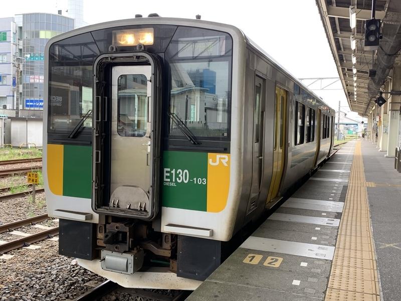 久留里線 木更津駅 キハE130系