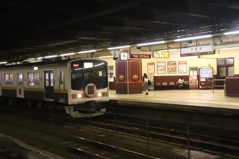 宇都宮駅日光線ホーム