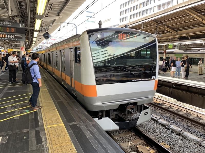 新宿駅中央線快速青梅行き