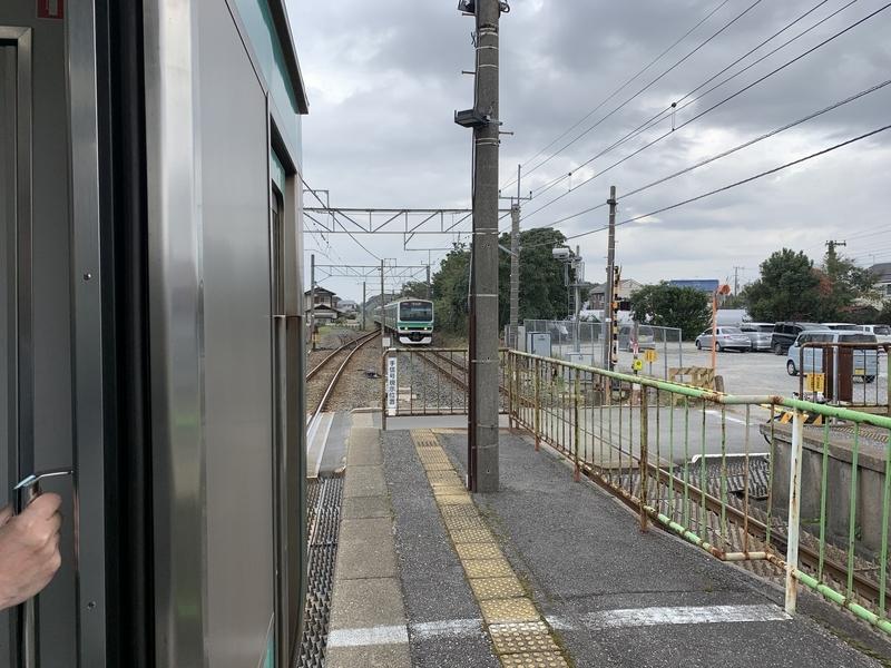 成田線 東我孫子 行き違い