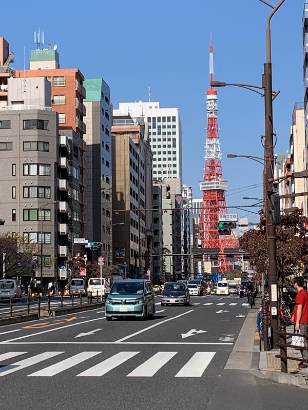 東京タワー 三田 交差点