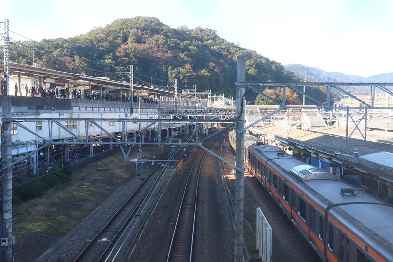 高尾駅 跨線橋