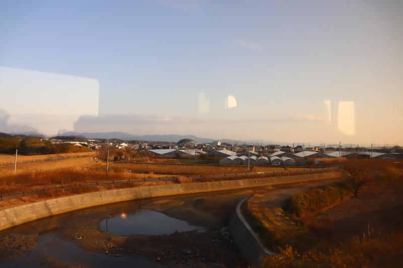 東海道本線 景色 朝日