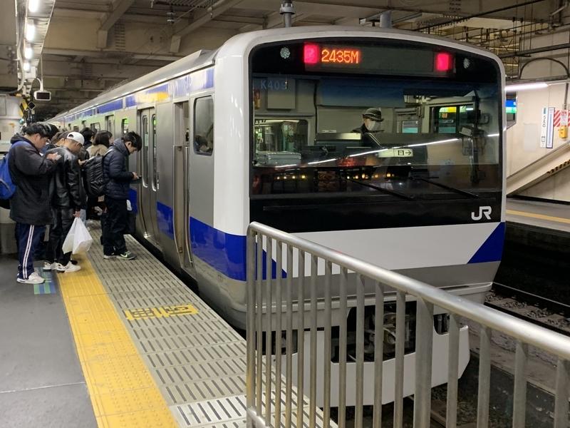 常磐線快速 上野駅 E531系