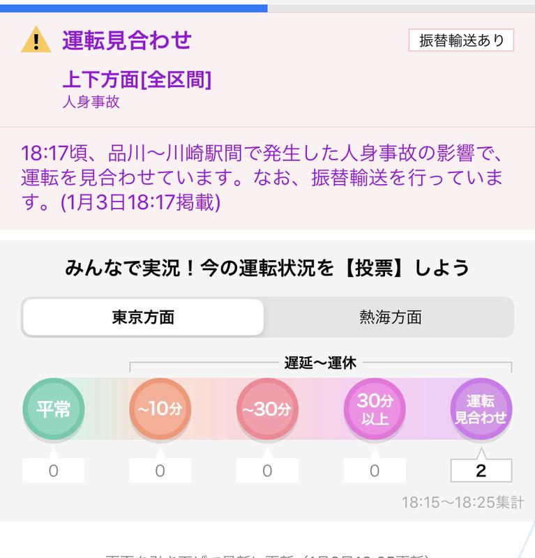 上野東京ライン 人身事故