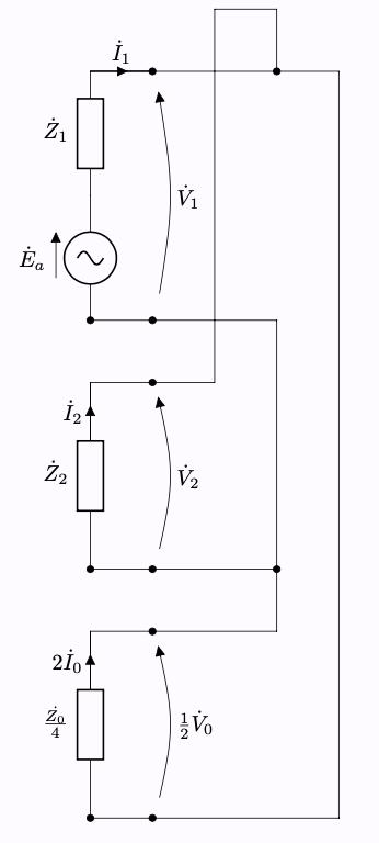 対称座標法 二相短絡一相地絡故障