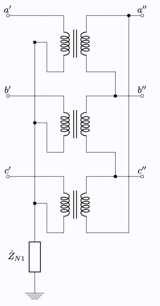 Y-Δ結線 変圧器