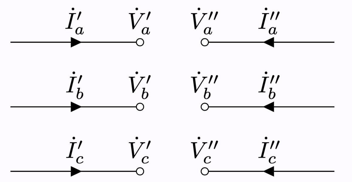 断線故障 電圧と電流の定義