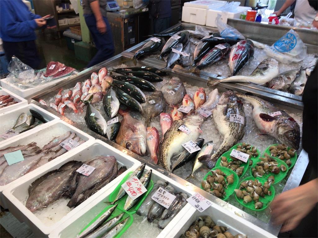 いきいき魚市で販売される金沢の鮮魚