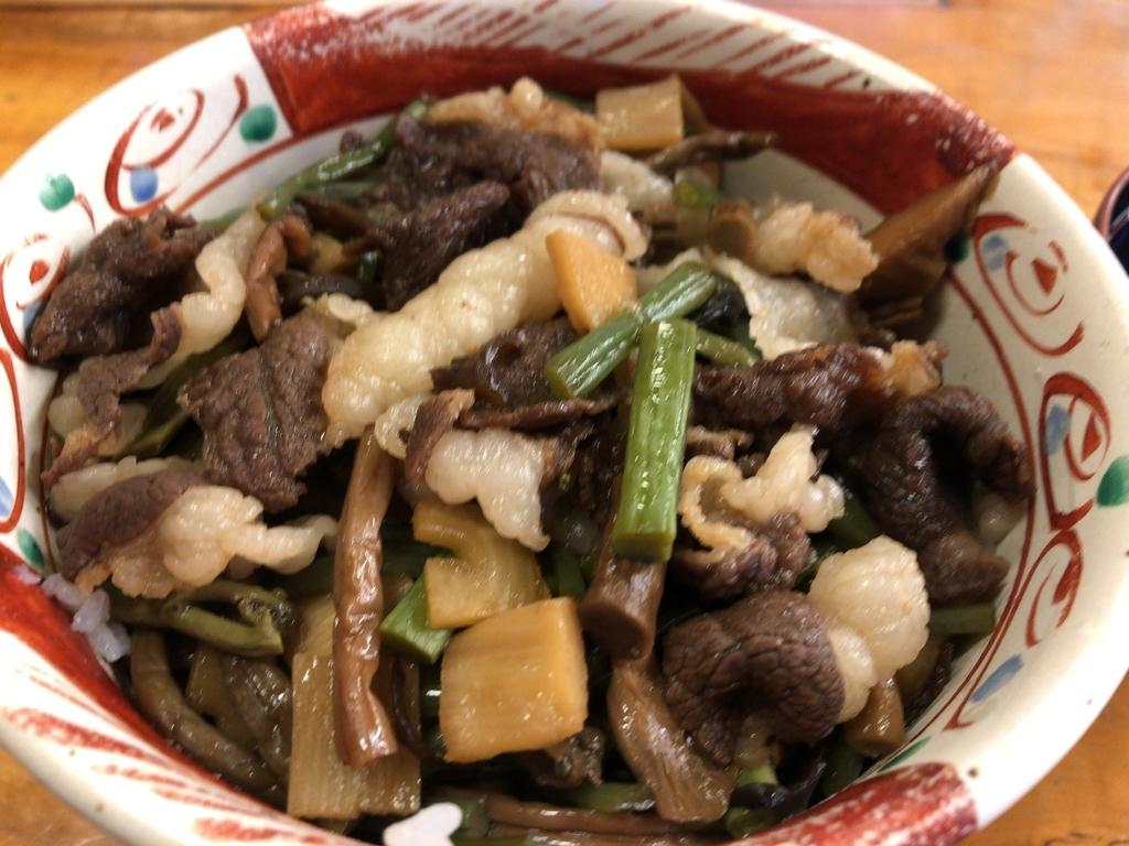 レストラン手取川で食べた熊丼