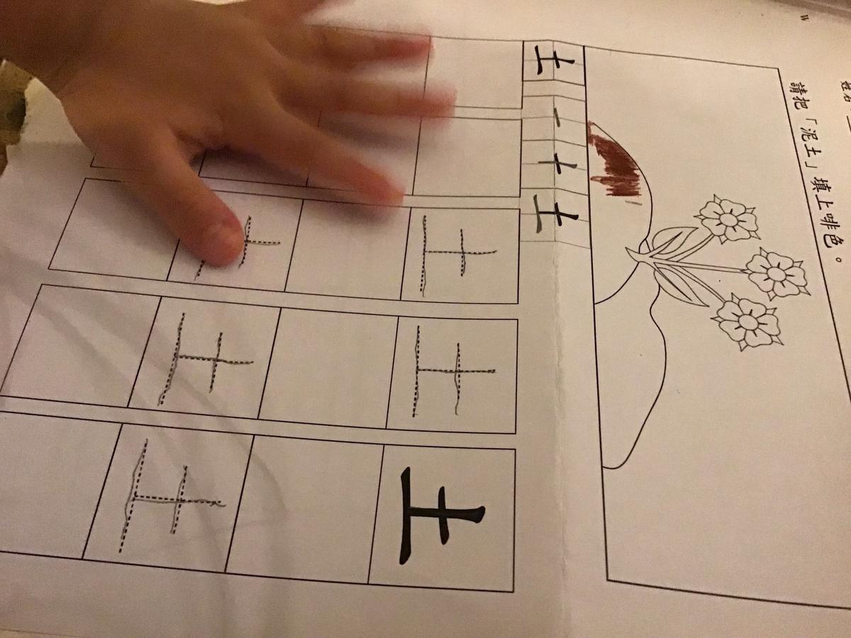 ローカル幼稚園 宿題