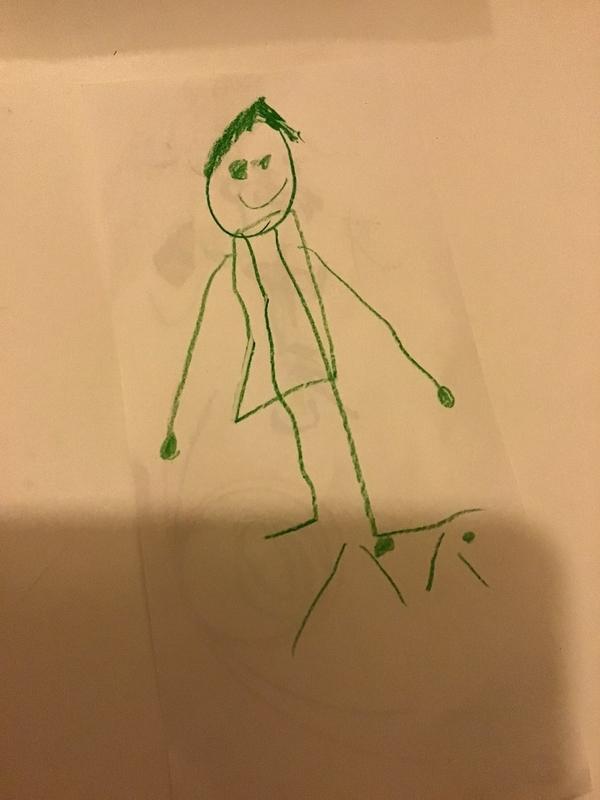 3歳 お絵かき パパ