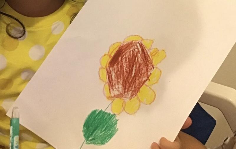 3歳 お絵かき 花