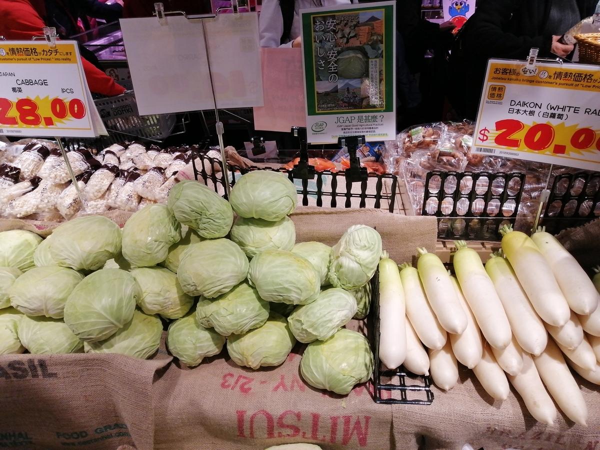 香港 キャベツ 野菜高騰 新型ウィルス