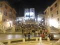 夜のスペイン広場