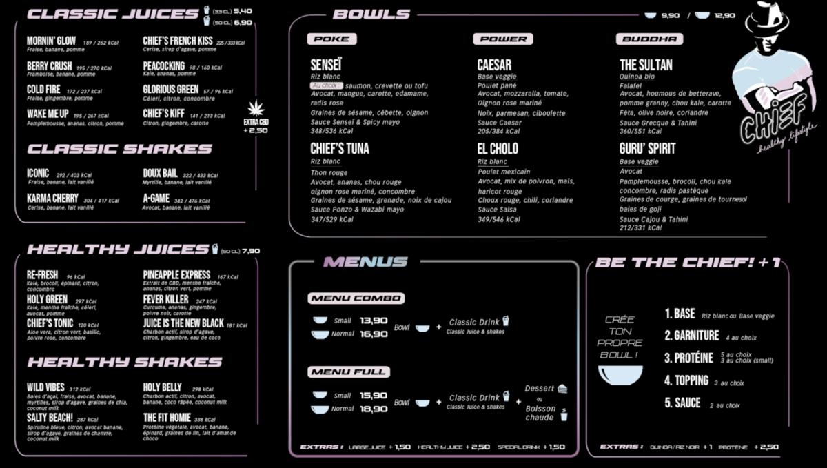 Chief menu 1