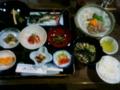 夕食@民宿かやぶき