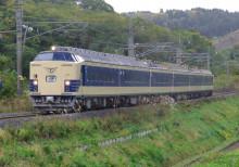 わくわくドリーム号 583系 奥羽本線 津軽新城 鶴ヶ坂