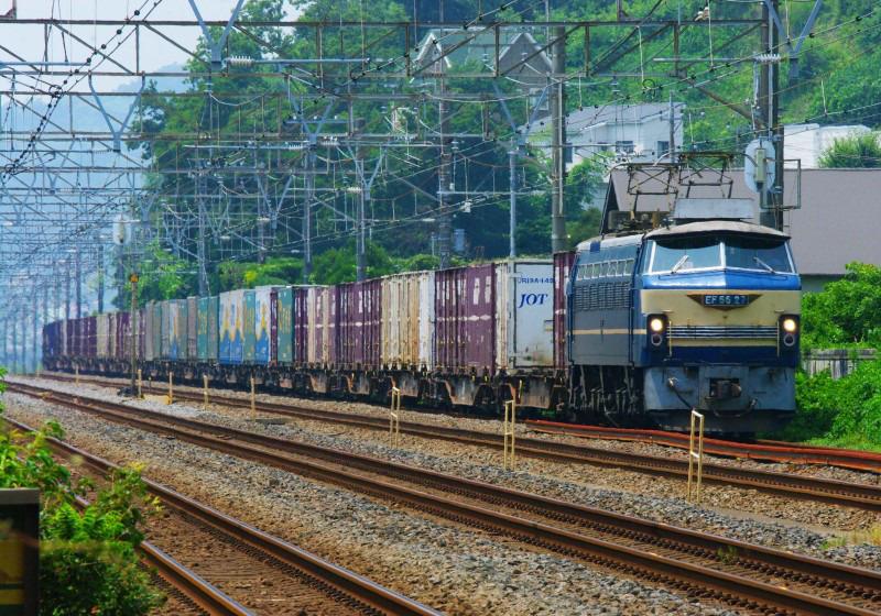 東海道線 大磯 二宮 EF66-27 貨物列車 撮影
