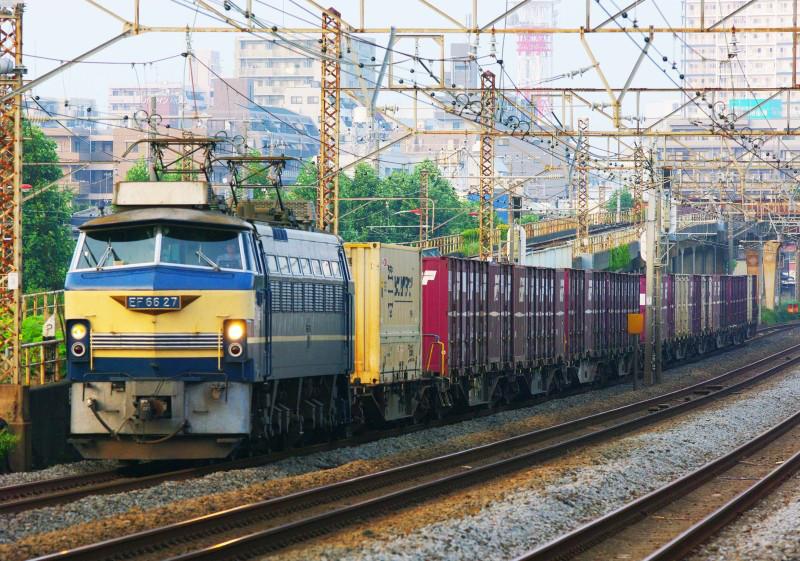 東海道線 平塚 大磯 貨物列車 EF66-27