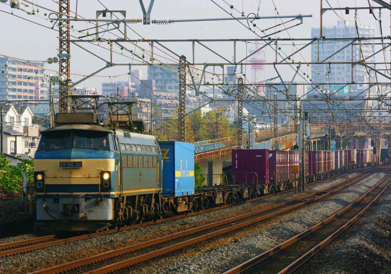 EF66 0番台 東海道線 平塚 大磯 貨物列車