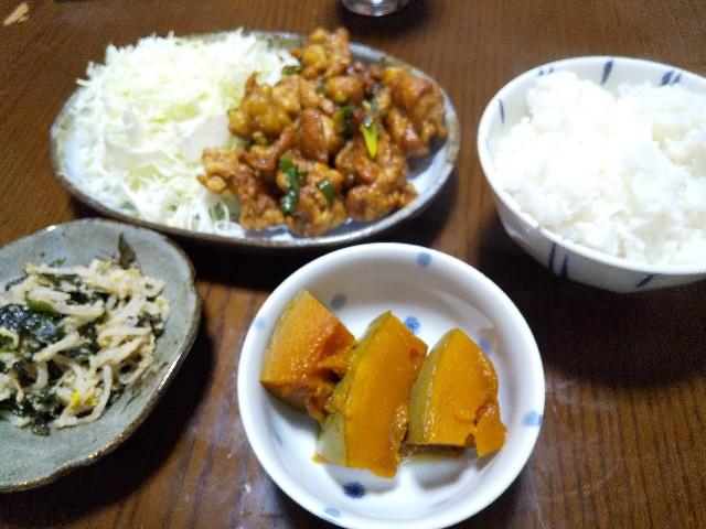 中華風唐揚げ かぼちゃの煮物 男の料理 おうちごはん 唐揚げレシピ