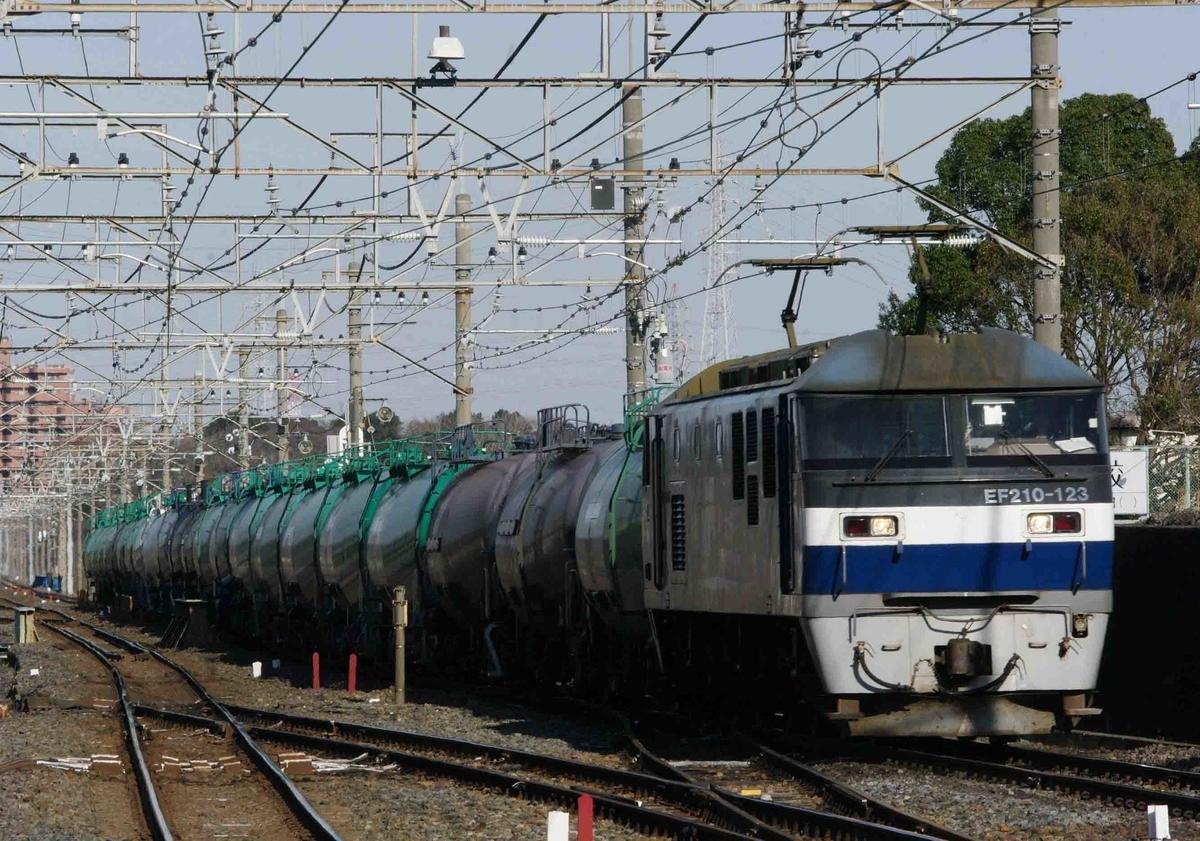 武蔵野線 撮影地 貨物列車 東浦和駅 EF210 桃太郎 8883ㇾ タキ143645 【銀タキ】 EH200 ブルーサンダー EF65-2000