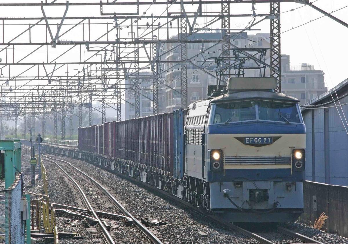 4093ㇾ 武蔵野線 西浦和 撮影地 EF66-27 ニーナ ゼロロク EF66-0 貨物列車