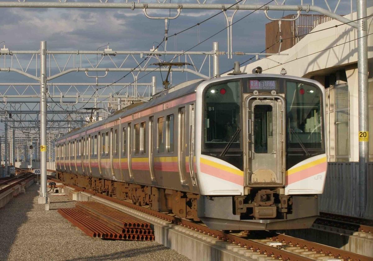新潟駅で撮影