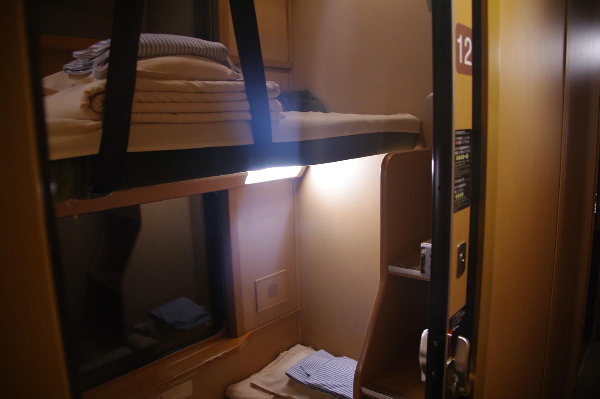 285系 サンライズ出雲号 サンライズ瀬戸号 ノビノビ座席 ソロ シングル B寝台個室 東京 岡山 乗車記