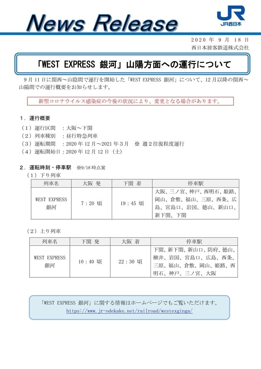 【WEST EXPRESS 銀河】 117系 山陽本線 昼行特急列車 大阪 下関 しおじ つばめ はと 広島 岡山