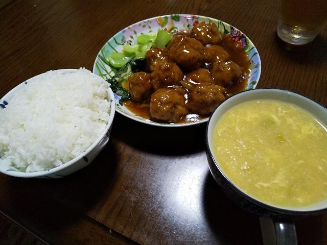 肉団子の甘酢あんかけ 中華風コーンスープ 中華料理 レシピ おうちごはん 男の料理
