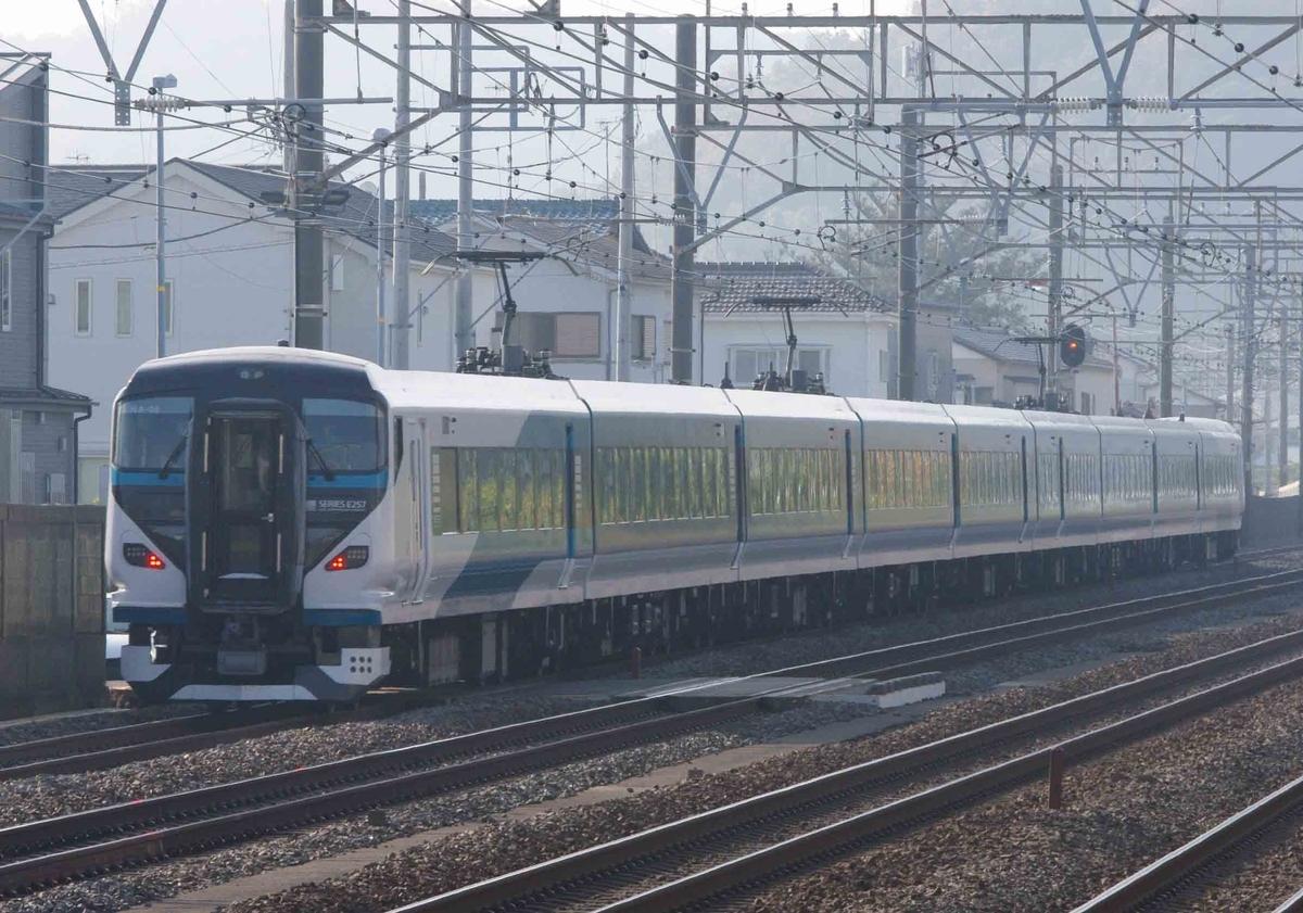 185系 E257系2000番台 踊り子号 東海道線 185系引退 平塚 大磯 二宮 撮影地