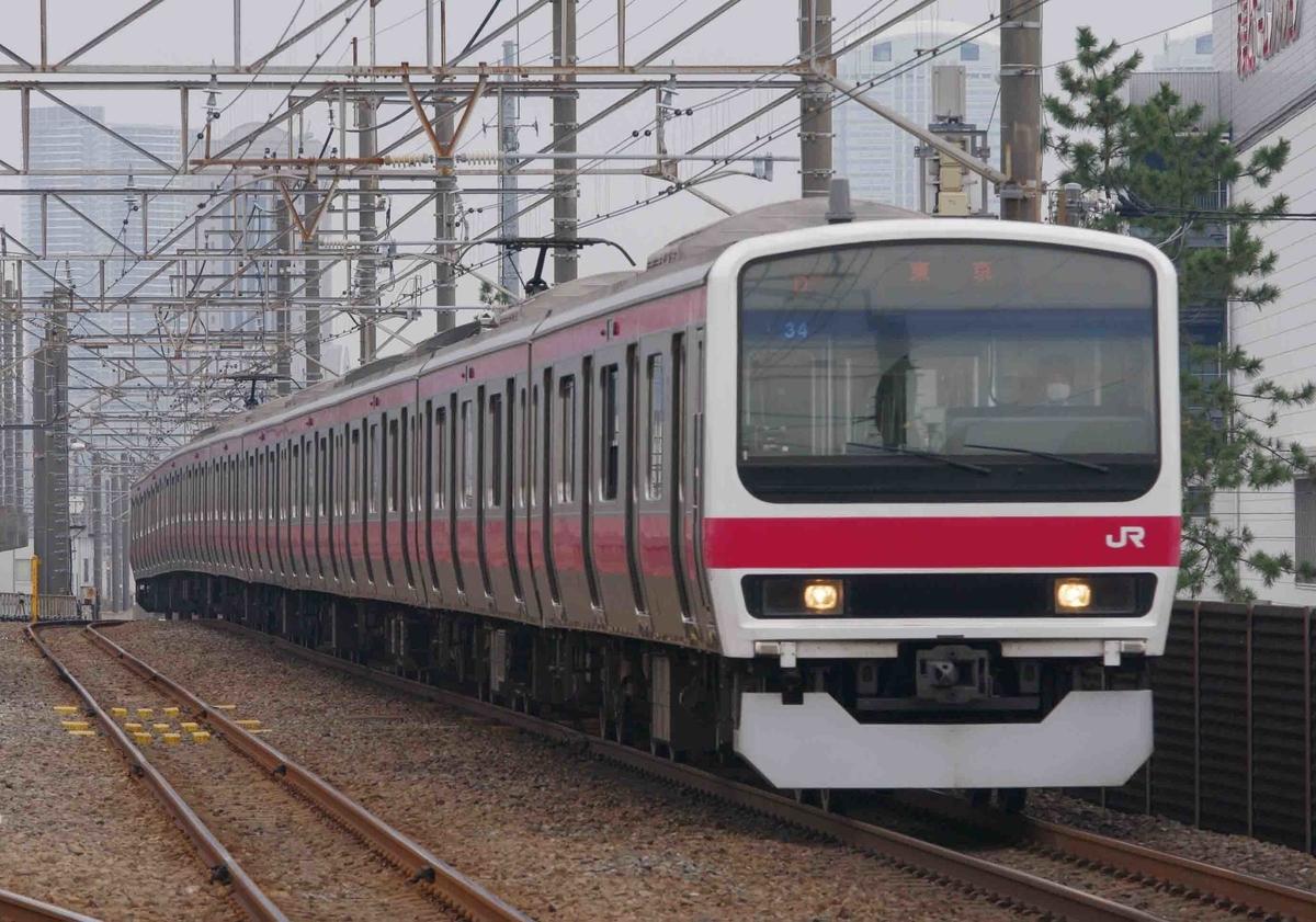 ケヨ34編成 209系500番台 撮影地 新習志野駅 京葉線 E233系5000番台 貨物列車 EF65-2000 プラレール