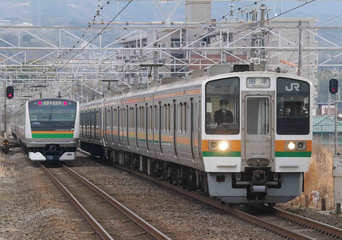 373系 313系 211系 JR東海区間 東海道線 三島駅 撮影地 EF66 EF210 貨物列車