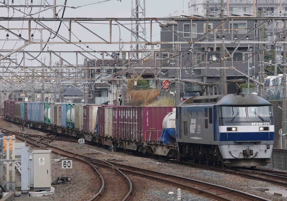 武蔵野線 西船橋駅 撮影地 4097レ 4095レ EF65-2000 EF65PF EF210桃太郎