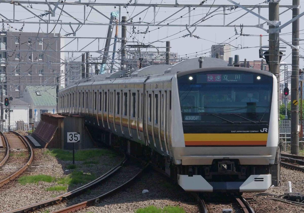 尻手駅 南武線 E233系8000番台 EF66-0 EF66-27号機 8764ㇾ 貨物列車 タキ 石油貨物