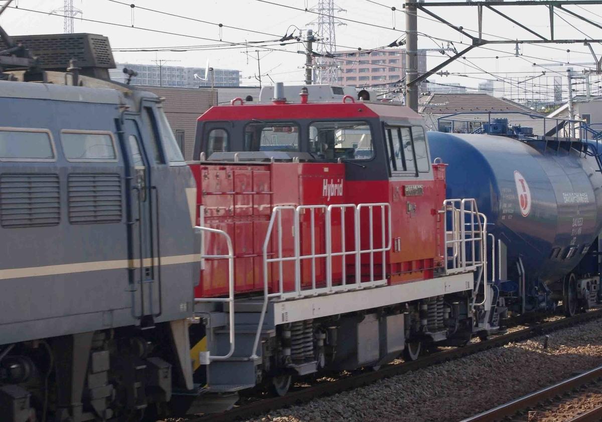 ゼロロク ニーナ尻手駅 南武線 E233系8000番台 EF66-0 EF66-27号機 8764ㇾ 貨物列車 タキ 石油貨物