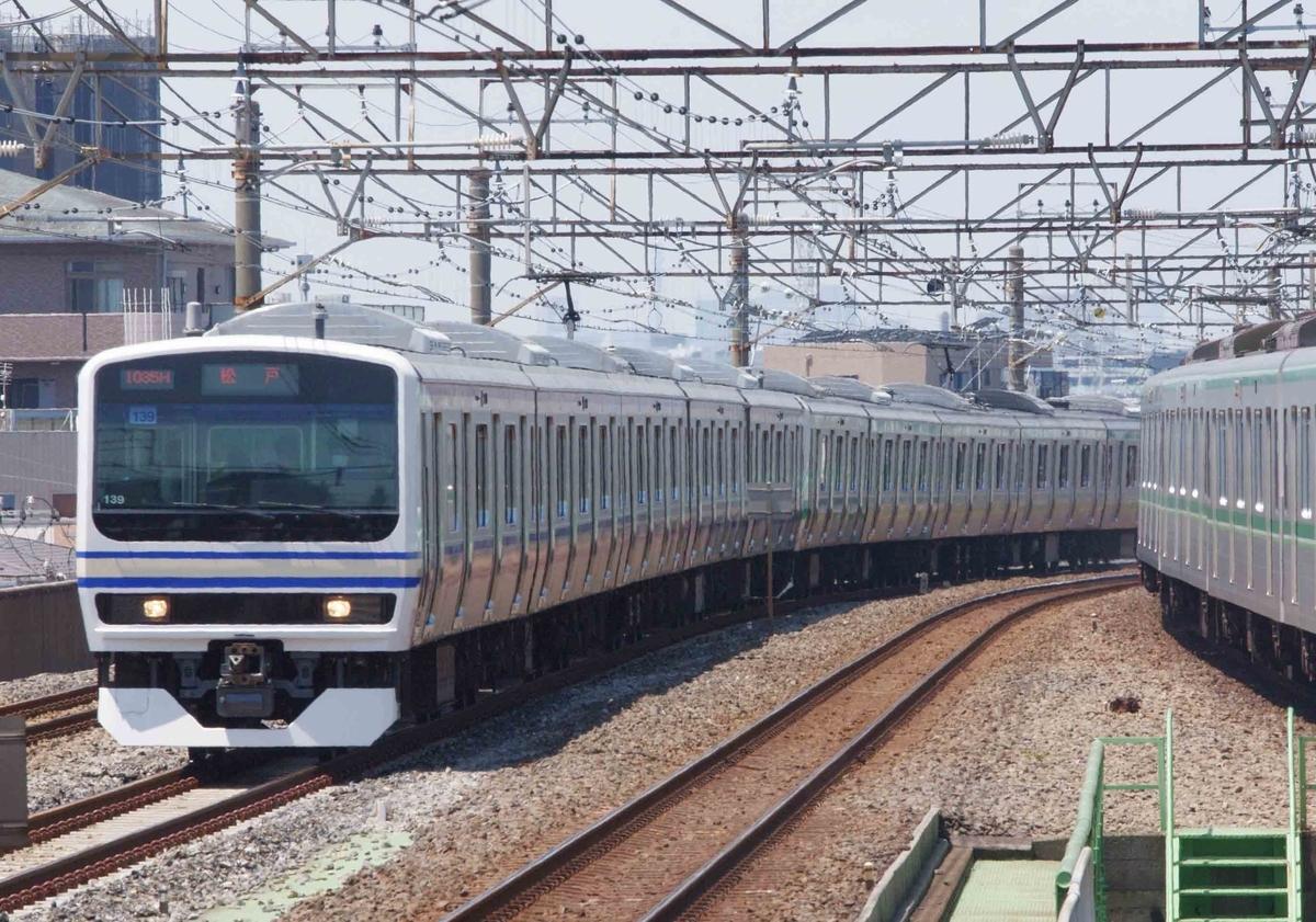 E231系 【スカ色 マト139編成】 常磐線快速 撮影地 亀有駅 北千住駅