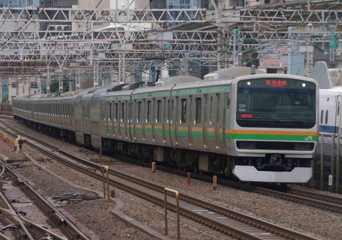 田町駅 東海道線 撮影地 上野東京ライン E531系 E231系 285系 E657系 サンライズ瀬戸・出雲号 特急ときわ号