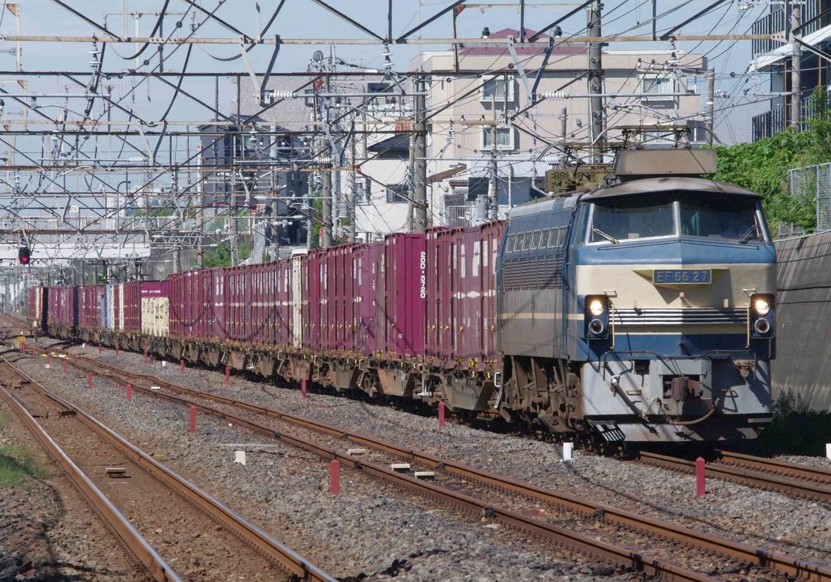 EF66-0 EF66-27 ゼロロク ニーナ 武蔵野シャトル 越谷レイクタウン駅 東浦和駅 撮影地 無脚の線 73ㇾ 74ㇾ 貨物列車