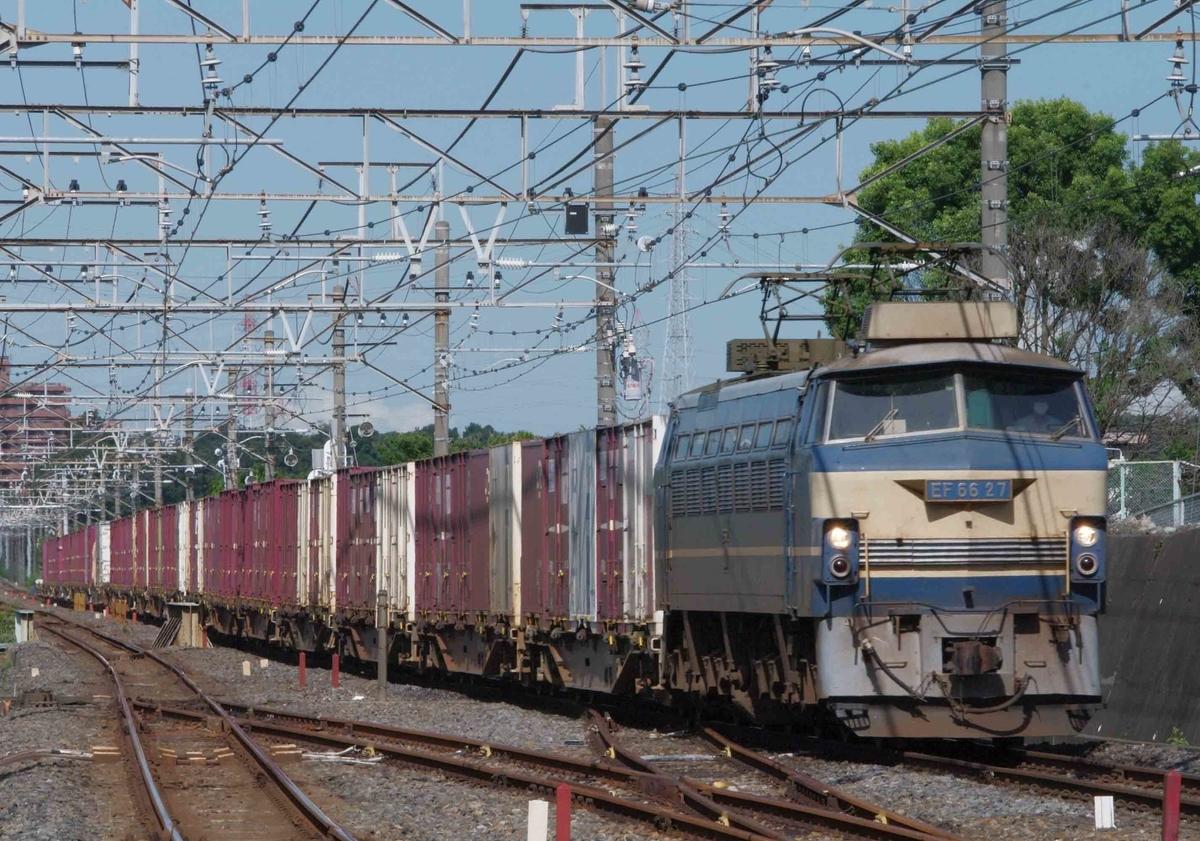 EF66-0 EF66-27号機 74ㇾ 73ㇾ 武蔵野シャトル 武蔵野線 貨物列車 東浦和駅 撮影地