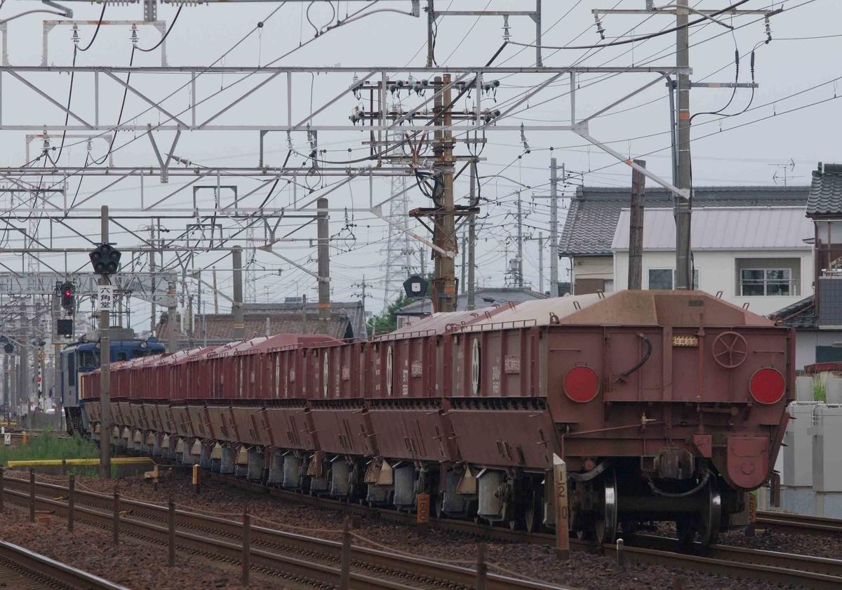 【赤ホキ】 ホキ9500 EF64-1000 EF66-27 ゼロロク27号機 石灰石 西濃鉄道 清洲 稲沢 撮影地 東海道線 貨物列車