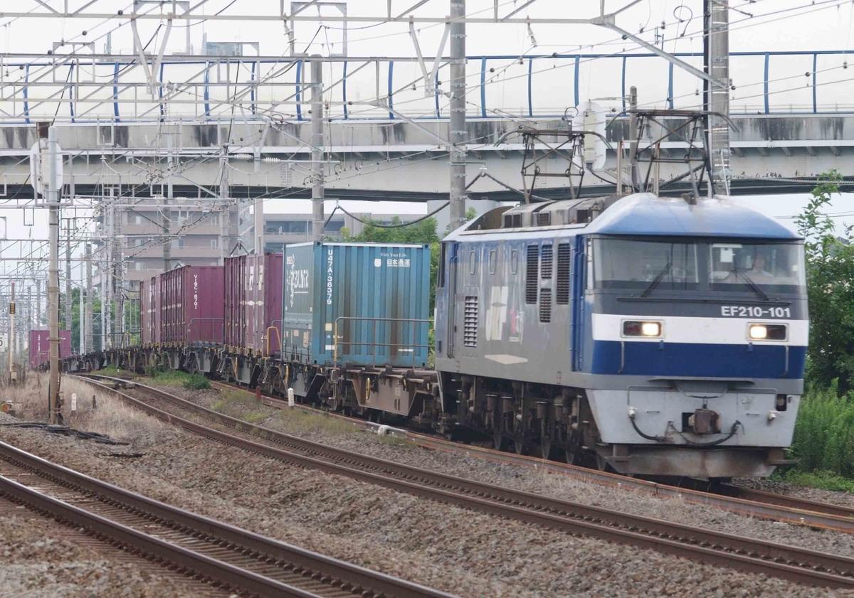8月29日撮影 東海道線 茅ヶ崎~平塚間 松尾踏切で1097ㇾ 8052ㇾ 2079ㇾを撮影