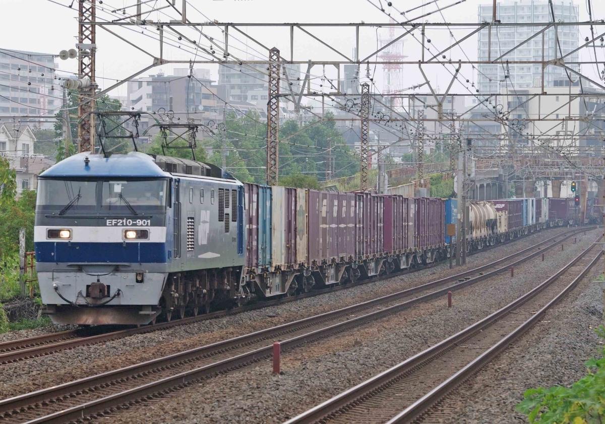 EF66-27 EF210-901 クマイチ ゼロロク27号機 平塚 大磯 撮影地 東海道線 貨物列車 金太郎 EH500