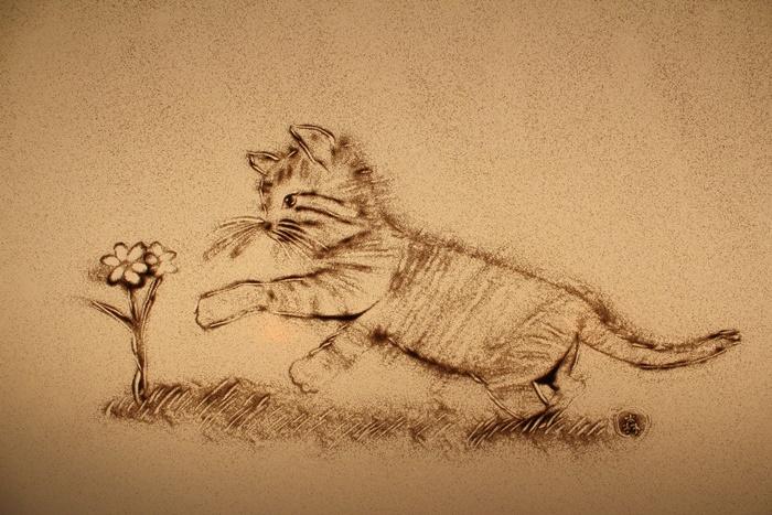猫の絵を描いてみた