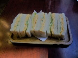 東京都練馬区東大泉5丁目にある喫茶店「喫茶アン」玉子サンド