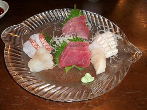 JR東海道本線早川駅駅近くの神奈川県小田原市早川1丁目にある魚介海鮮料理のお店ふるはうすの刺身盛り合わせ
